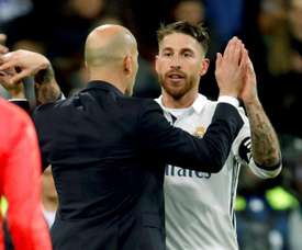 Ramos has played with both Zidane and his son. EFE/Archivo