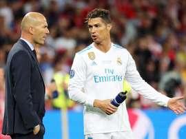Zidane remediou o adeus de Cristiano. EFE