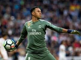 Keylor fue perjudicado por los desajustes defensivos del Madrid. EFE