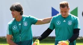 Ter Stegen sueña con ser el portero titular en Alemania. EFE