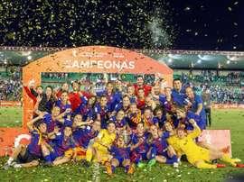 El Barcelona levantó el trofeo la pasada temporada. EFE