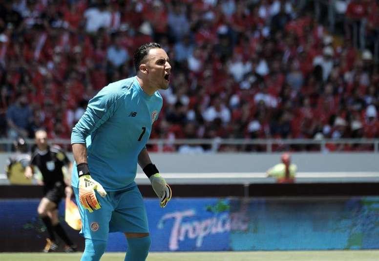 El futuro de Keylor inquieta al seleccionador de Costa Rica. EFE