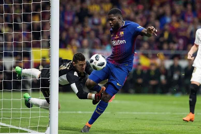 El Arsenal espera la decisión del Barça con Umtiti. EFE/Archivo