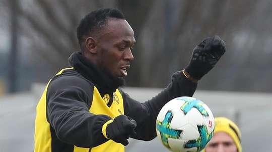 Bolt fera ses début lors d'un match amical en Norvège. EFE
