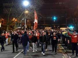 L'UEFA a sanctionné Bilbao. EFE/Archive