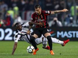 Suso espera que o Milan volte à Champions. EFE