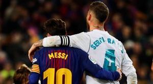 Messi e Ramos, ícones e rivais. EFE/Archivo