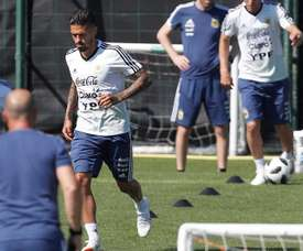 Lanzini was sidelined from Argentina's World Cup squad with the lengthy injury. EFE