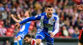 Borja Valle se despidió del Dépor. EFE