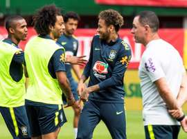 Neymar will start for Brazil for the first time since his operation. EFE/EPA/CHRISTIAN BRUNA