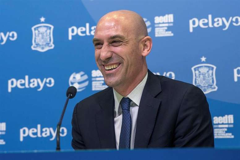 Rubiales epxlained why he decided to fire Lopetegui. EFE/Archive