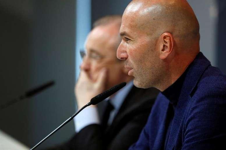 Zidane a parlé de son futur. EFE/Archive