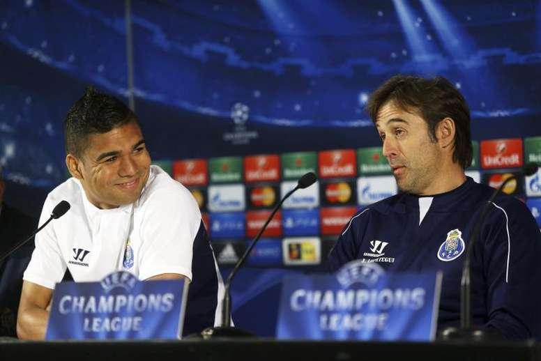 Casemiro avec Lopetegui lorsqu'ils évoluaient à Porto. EFE