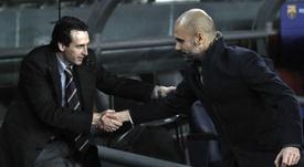 Unai Emery alabó a Pep Guardiola. EFE