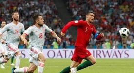 España y Portugal coincidieron en el Mundial. EFE