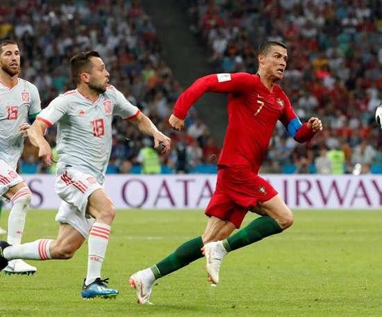 Portugal e Espanha se enfrentarão em 7 de outubro. EFE