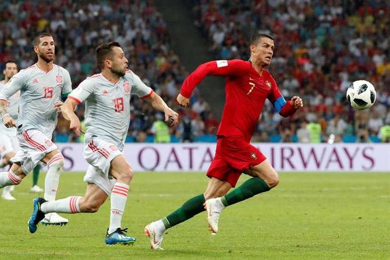 Espanha e Portugal jogarão contra no Mundial. EFE