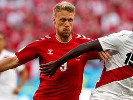 Nicolai Jorgensen failed to score his penalty against Croatia, and has faced backlash. AFP