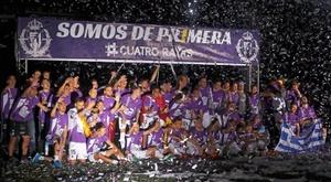 El Valladolid regresa a Primera. EFE