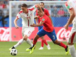 Nemanja Matic is considering retirement from international football. AFP