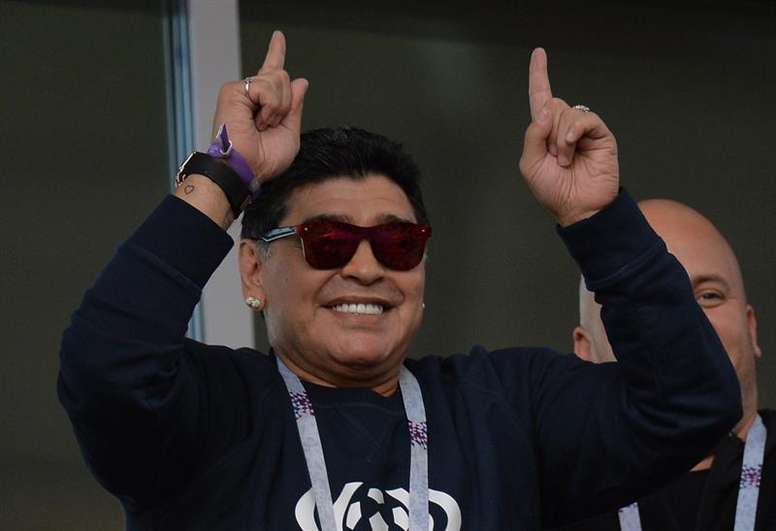 Maradona apuesta por Francia. EFE