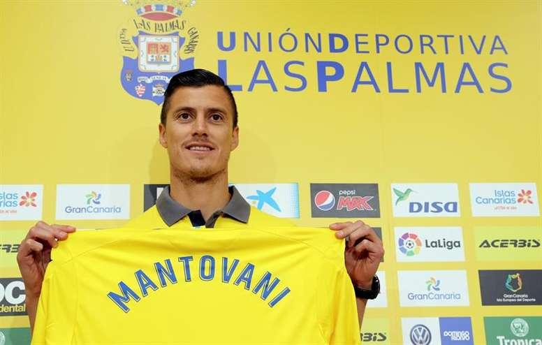 Mantovani volverá a defender los colores de Las Palmas. EFE/Archivo
