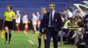 Jorge Vilda, orgulloso. EFE/Archivo