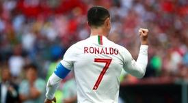Cristiano Ronaldo entrou no segundo tempo da partida contra o Cazaquistão. EFE