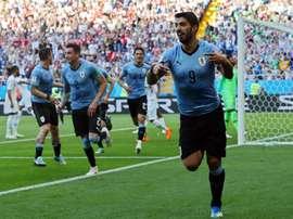 Suarez got the crucial goal. AFP