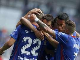 El Real Oviedo se mide al Elche en casa este domingo. EFE/Archivo