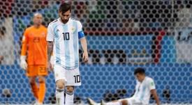 Simeone pone en duda la grandeza de Messi en un audio. EFE