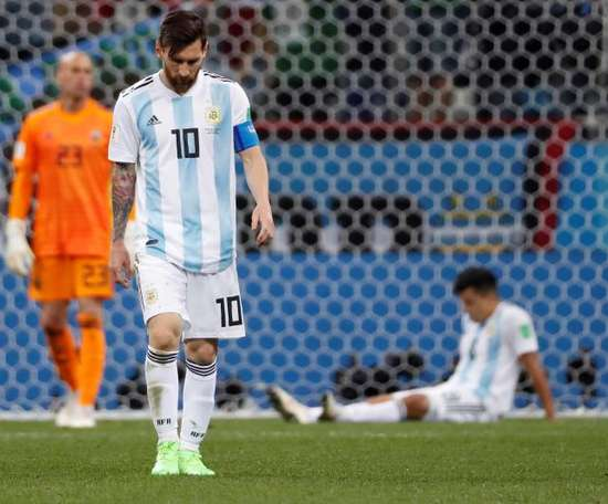 Messi is ready to make his Argentina return next summer. EFE