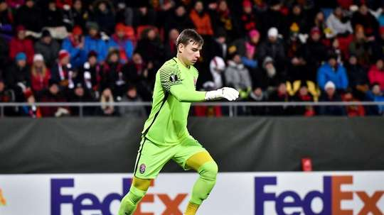 Lunin is only 19 years old. AFP
