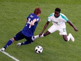 Moussa Wagué ciblé par le FC Séville. EFE
