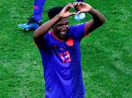 Yerry Mina, un des joueurs colombiens qui a le plus brillé. AFP
