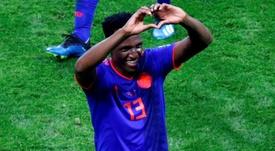Yerry Mina, sur l'agenda de nombreux clubs. EFE