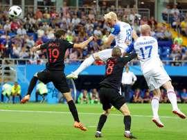 Islandia peleó hasta el final, pero Croacia superó a los nórdicos. AFP