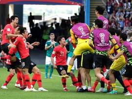 South Korea scored two goals at the death. Captura