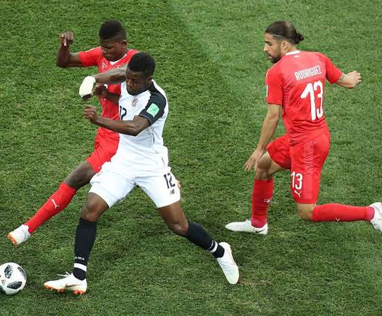 Switzerland nabbed the last 16 spot, but Costa Rica proved worthy opponents. EFE