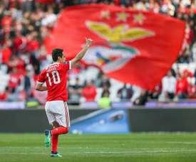 Jonas no pudo evitar la derrota del Benfica. EFE/Archivo