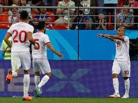 Túnez se llevó el triunfo por la mínima. EFE