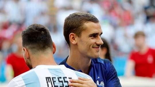 Griezmann est à la hauteur de Messi et Cristiano. EFE