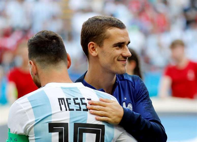 Messi no longer gives his opinion on Griezmann. EFE