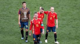 Ramos a parlé d'Alba. EFE