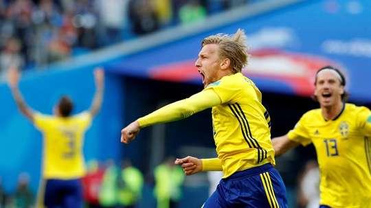 Suecia derrotó a Suiza. EFE