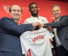 Amadou bénéficierait de la clause la plus haute de l'histoire de Séville. EFE