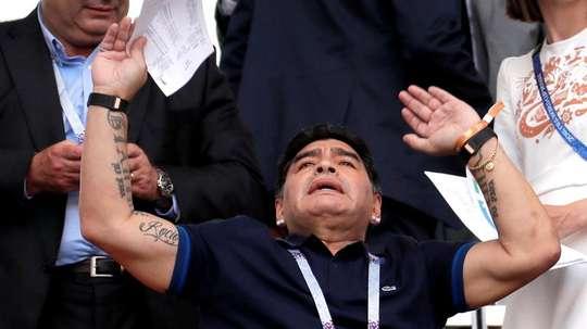 Maradona s'est énervé. EFE