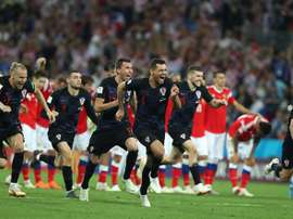 Croacia volvió a ejercitarse antes de la final. EFE