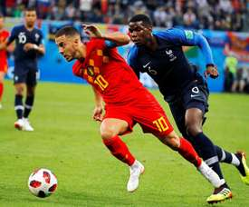 Pogba wants to play along Hazard in Real Madrid next season. EFE