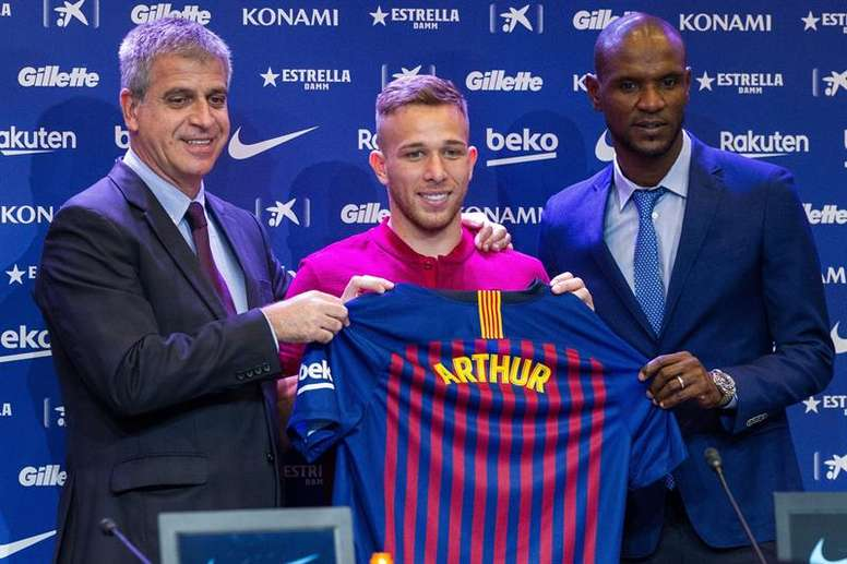 Arthur has been presented as a new Barca signing. EFE